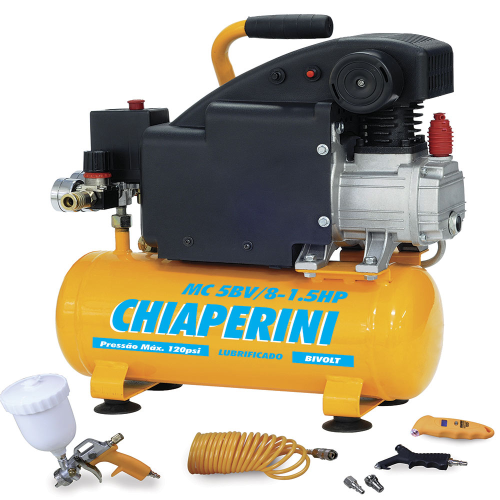 Motocompressor 5 / 8L 1.5HP Bivolt C/ Kit MC5 Chiaperini