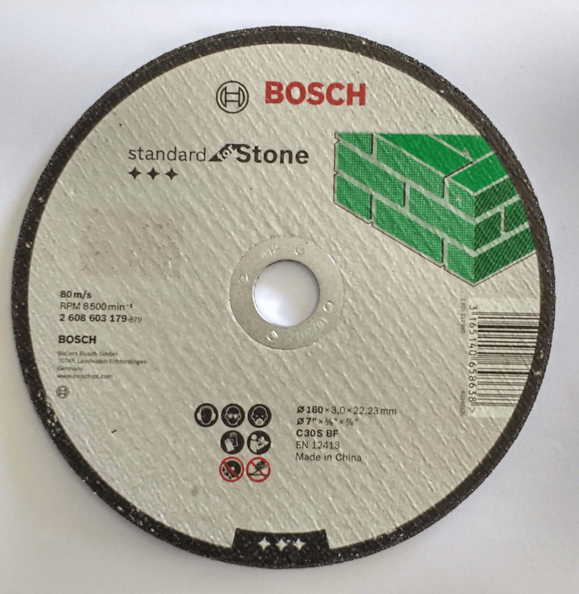 Disco de Corte Para Pedra 180 mm 7'' Gr.30 - Bosch