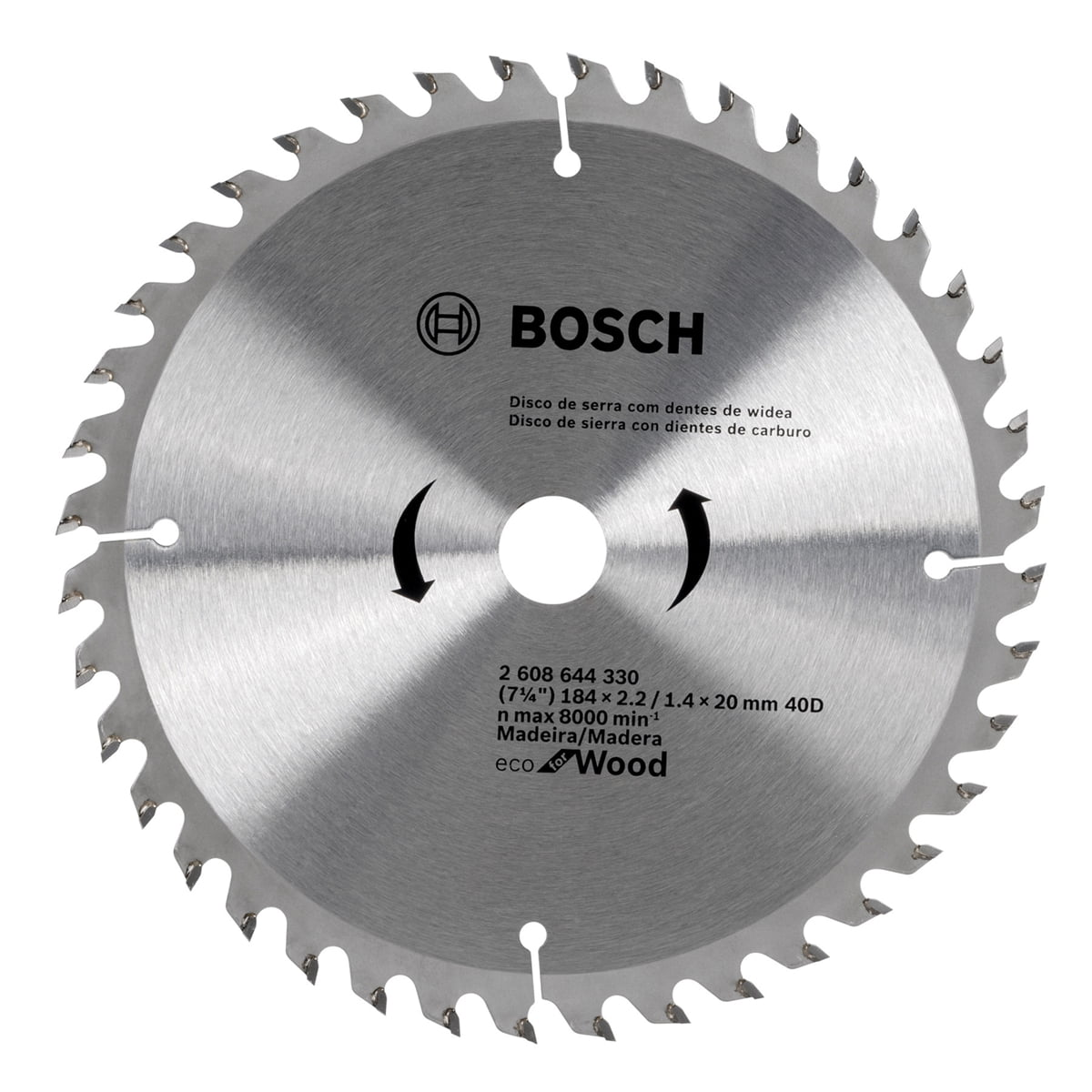 "Disco de Serra com Dentes de Widea 184mm (7.1/4"") 40D - Bosch"