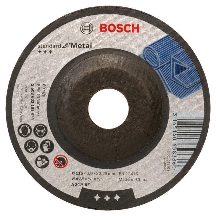 "Disco de Desbaste para Metal 115 mm 4.1/2"" Gr.24 - Bosch"