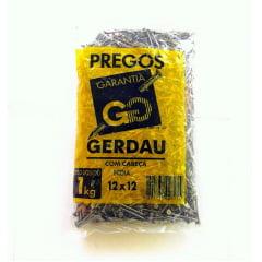 Prego Polido C/ Cabeça 12 X 12 (1Kg) Gerdau