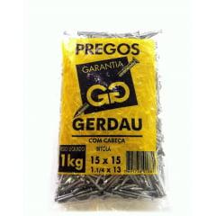 Prego Polido C/ Cabeça 15 X 15 (1Kg) Gerdau