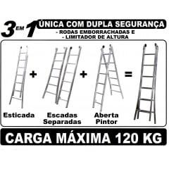 Escada Esticável Dupla (Vários Tamanhos)
