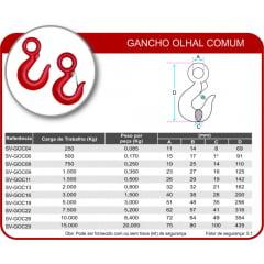 Gancho com Trava G-8 SV para 2000kg 7/8-8