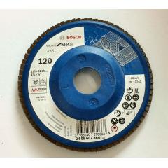 Disco Flap Blue Expert for Metal Base Plástica 115 mm Gr. 120 - Bosch