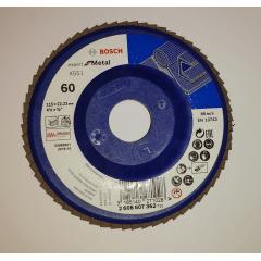 Disco Flap Blue Expert for Metal Base Plástica 115 mm Gr. 60 - Bosch