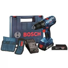 Parafusadeira/Furadeira bateria GSB180 LI + kit 23 acessórios
