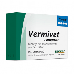 Vermivet Composto 600Mg - Kit com 3 caixas