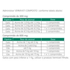 Vermivet Composto 600Mg - Kit com 3 caixas