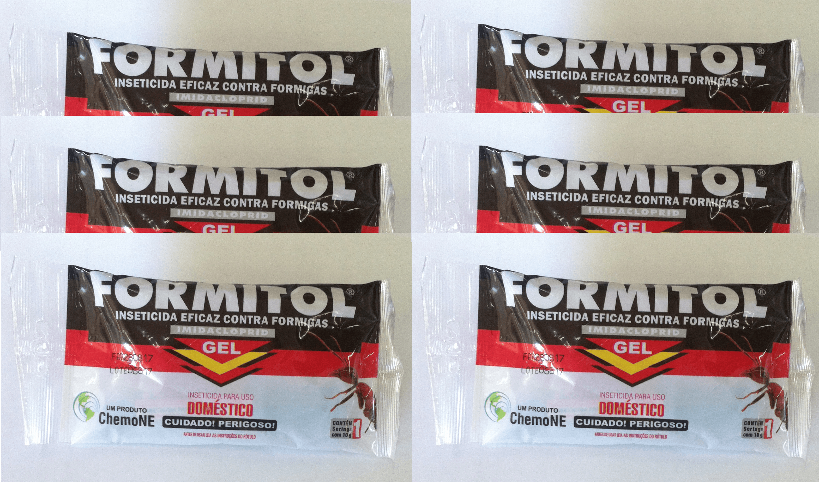 Formitol Formicida Gel 10g- Kit com 6 unidades